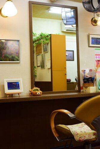 江東区門前仲町の美容室ハイジのセット面