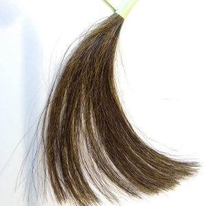 白髪交じりの毛束 ヘナとインディゴMIX 1回目